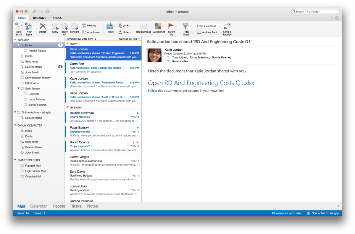 Outlook für macOS in Retina
