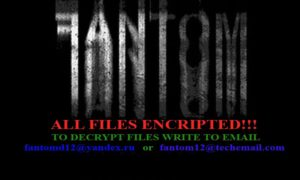 Fantom Ransomware - Hintergrundbild auf dem Desktop